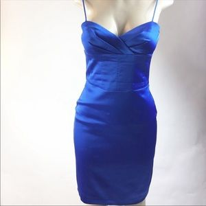 Oleg Cassini Blue Dress